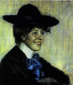Marie Underi portree autoriks Ants Laikmaa